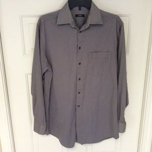 Alfani Dress Shirt Button Up Med (15 - 34/35) Gray
